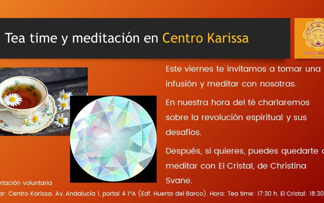 Este viernes Hora del té y meditación en el Centro karissa
