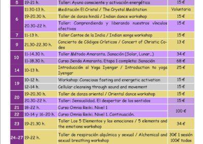 Actividades de julio / Activities in July