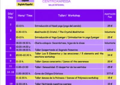 Actividades de agosto en Centro Karissa / Activities in August in Karissa Center